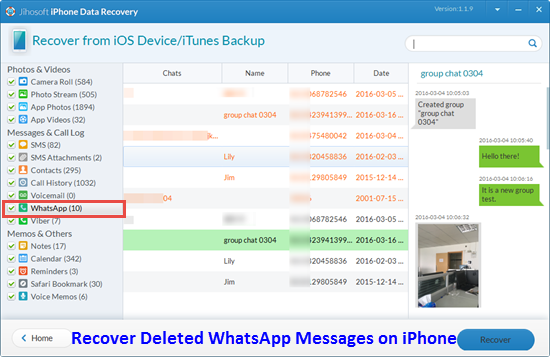 How to Easily recover Whatsapp Messages from Lost IPhone?