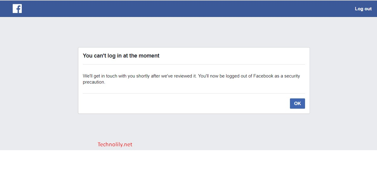 Facebook asked to upload photo for security precaution
