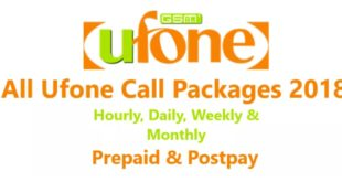Ufone Call Packages 2018