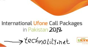 Ufone International Call Packages 2018