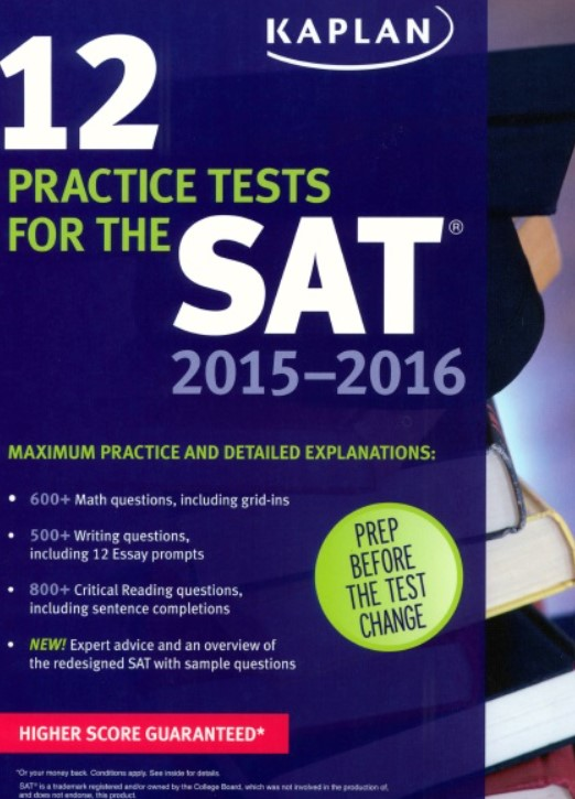 Download Kaplan 12 Practice Tests for the SAT 2015-2016 9th Edition PDF Free