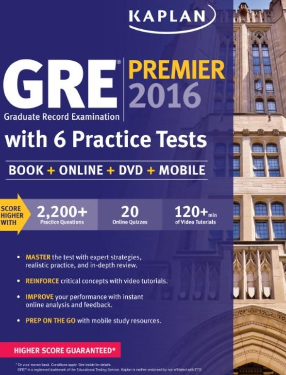Download Kaplan GRE Premier 2016 with 6 Practice Tests PDF Free