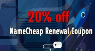 20% OFF NAMECHEAP RENEWAL COUPON IN AUGUST 2020