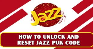 How To Unlock And Reset Jazz PUK Code And Pin Number