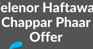 Telenor Chappar Phaar Offer 2020
