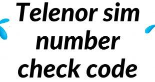 Telenor Sim number check code 2020