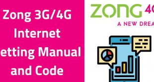 Zong internet setting