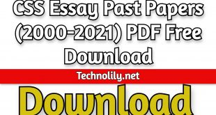 CSS Essay Past Papers (2000-2021) PDF Free Download